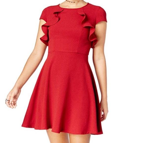 B Darlin Dresses & Skirts - NWT B Darlin Juniors' Ruffled A-Line Dress
